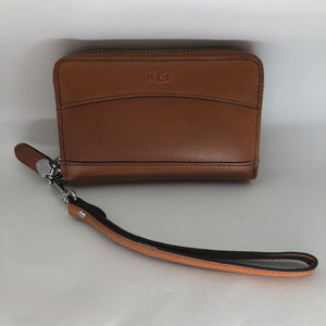 NWT Ralph Lauren Leather Wristlet Dorian Vachetta